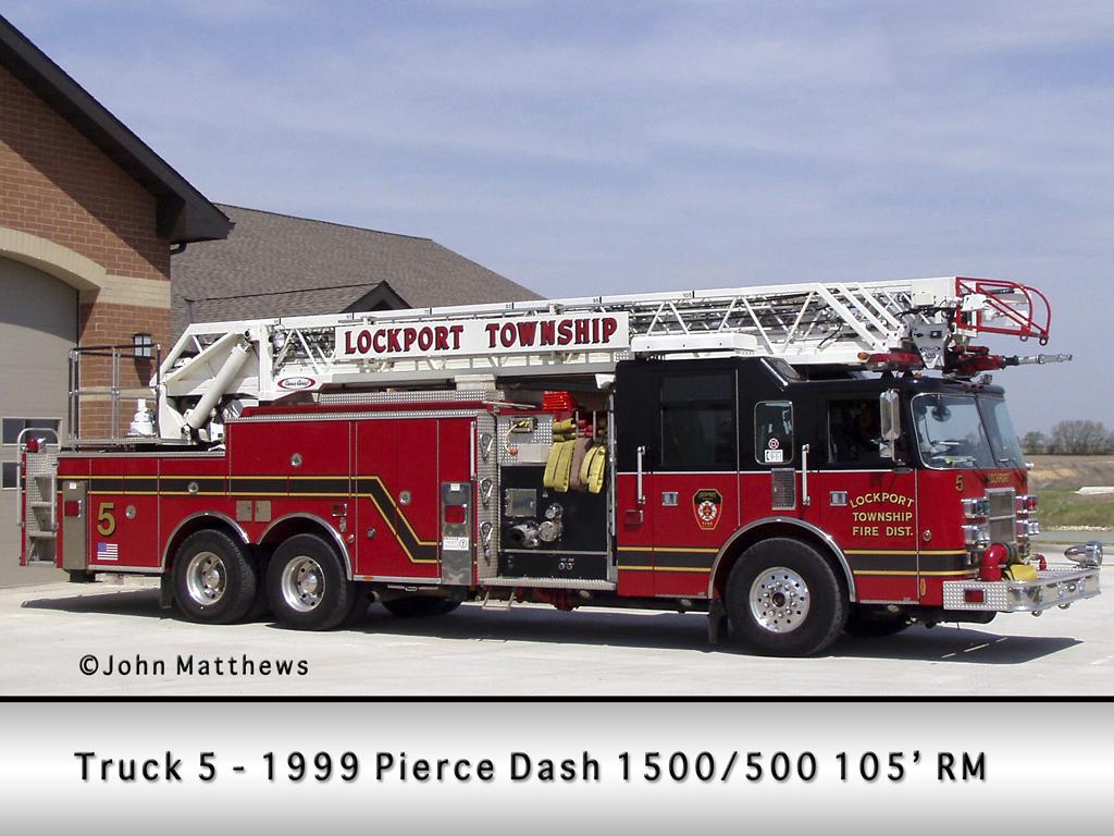 Lockport Township FPD Pierce Dash quint Truck 5