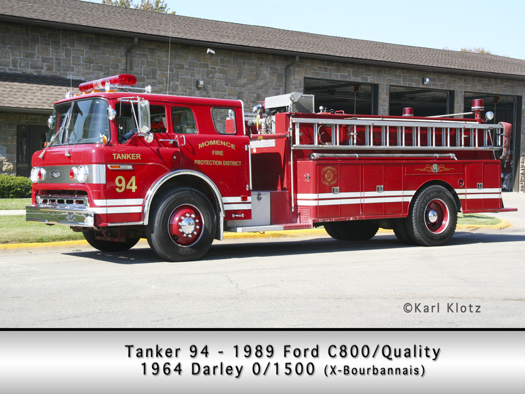 Momence Fire Department Ford Quality Darley tanker