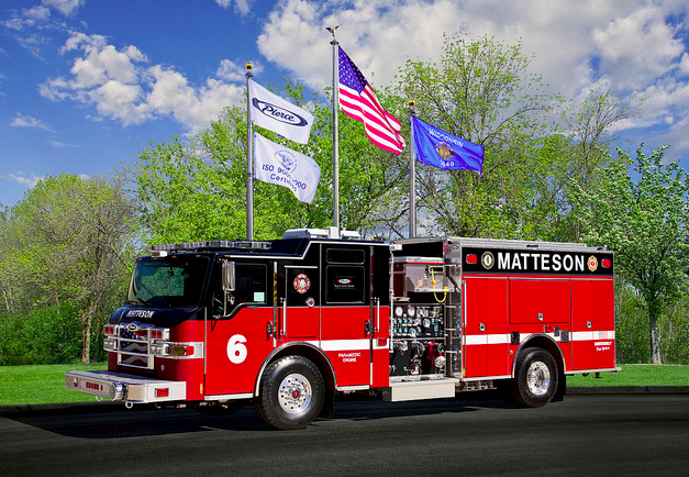 Matteson Fire Department Pierce Velocity pumper