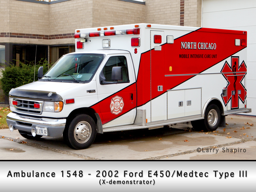 North Chicago Fire Department Ford Medtec Type III ambulance