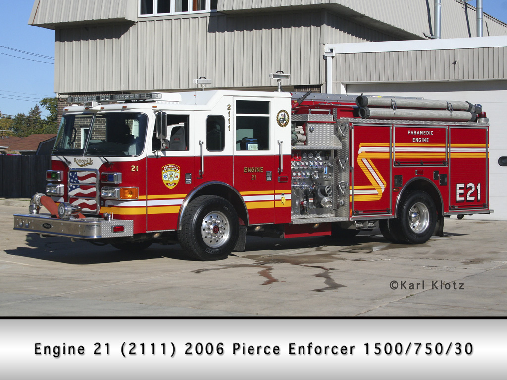 Romeoville Fire Department Pierce Enforcer engine
