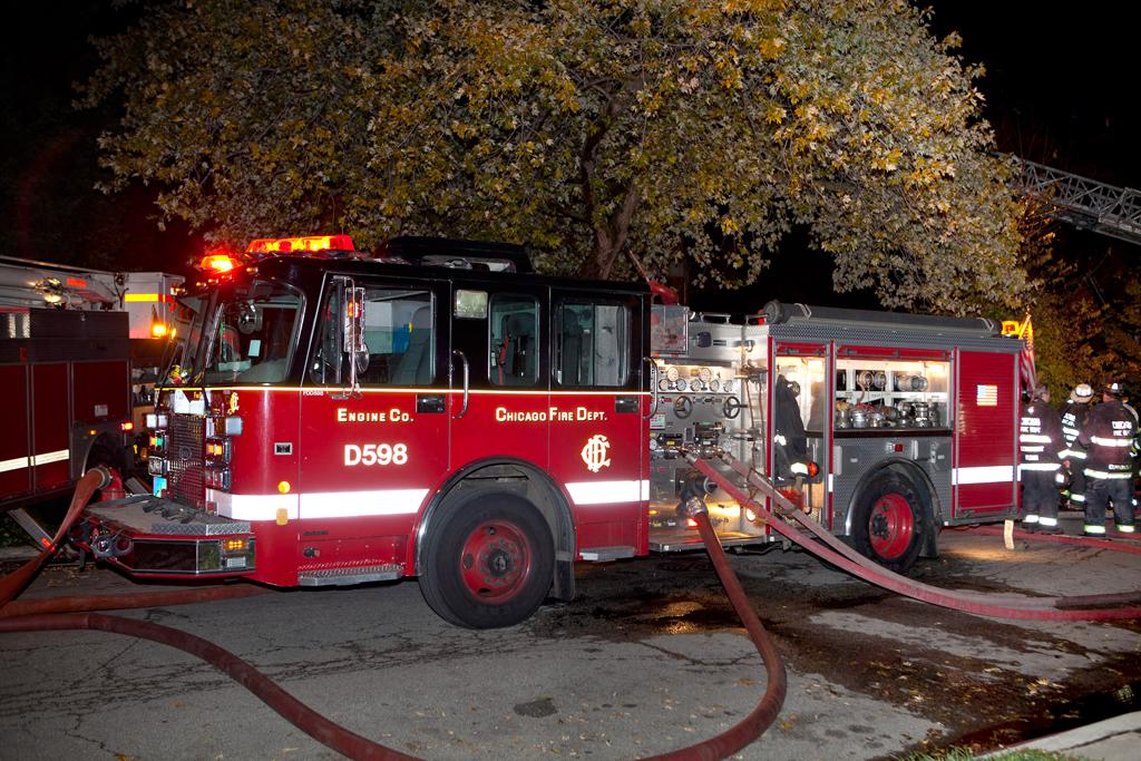 Chicago Fire Department Spartan Luverne pumper