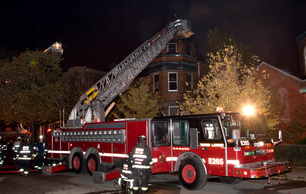 Chicago Fire Department E-ONE tower ladder