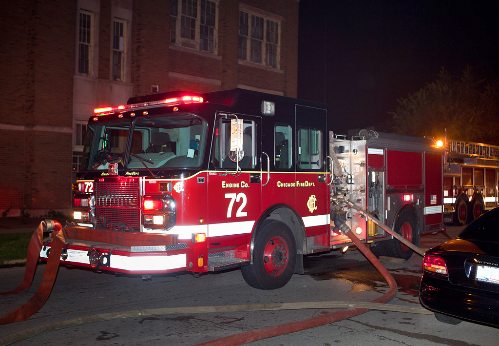 Chicago Fire Department engine 72 Spartan Crimson