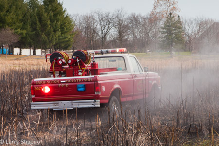 Barrington Fire District prairie fire