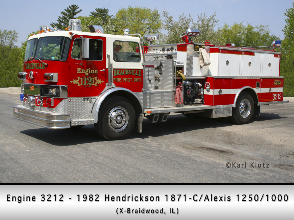 Braceville Fire Department Hendrickson Alexis engine Braidwood