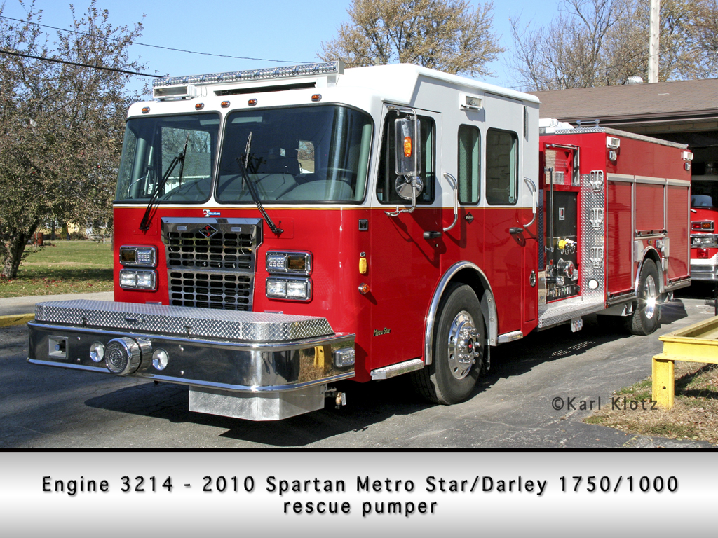 Braceville Fire Department Spartan Metro Star Darley engine