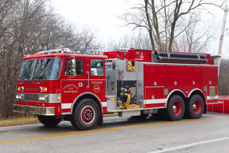 Libertyville Fire Department tender tanker