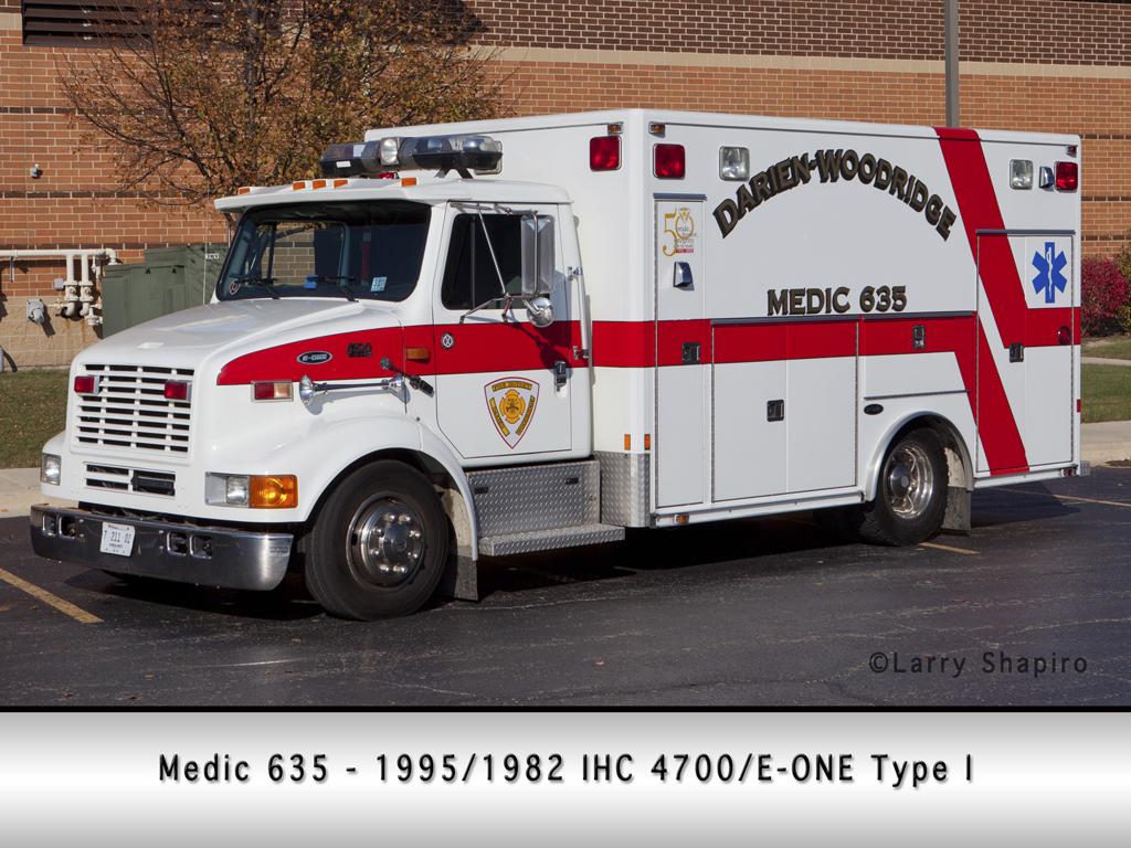Darien-Woodridge FPD E-ONE ambulance