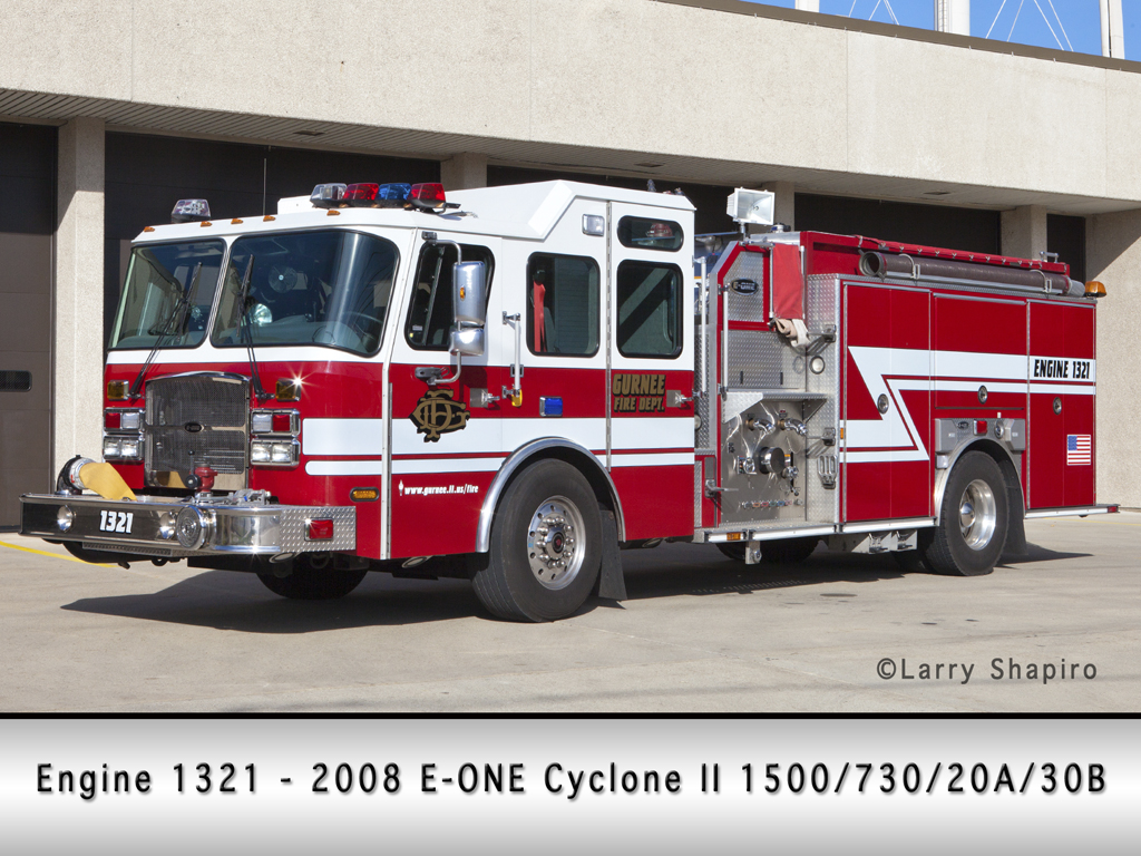 Gurnee Fire Department E-ONE Cyclone II engine