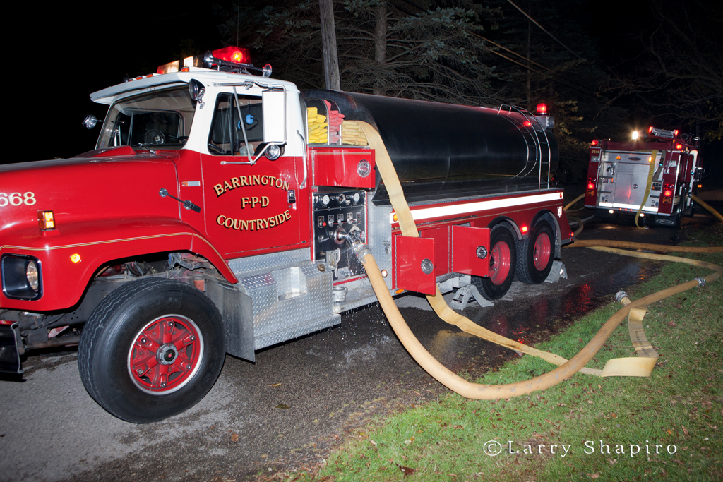 Barrington Fire Department tanker Lake Zurich 3rd alarm fire 11-4-10