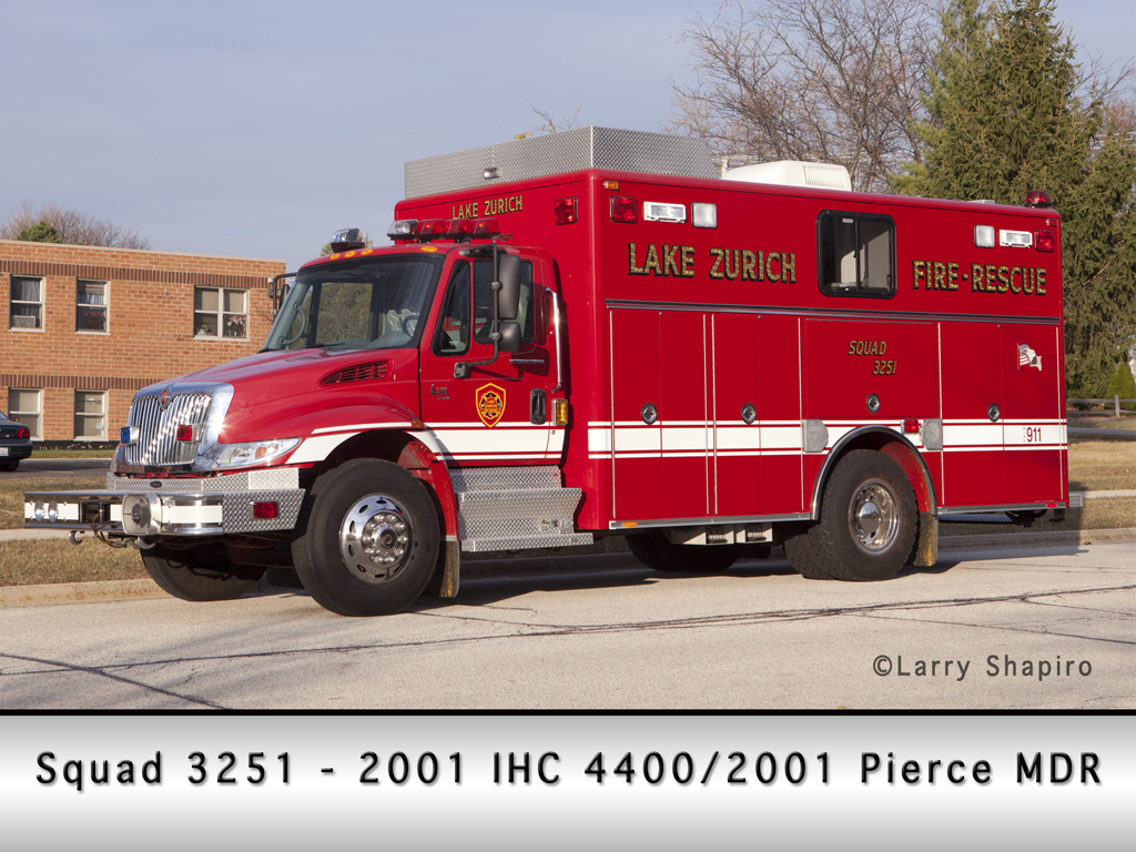 Lake Zurich Fire Department IHC Pierce squad