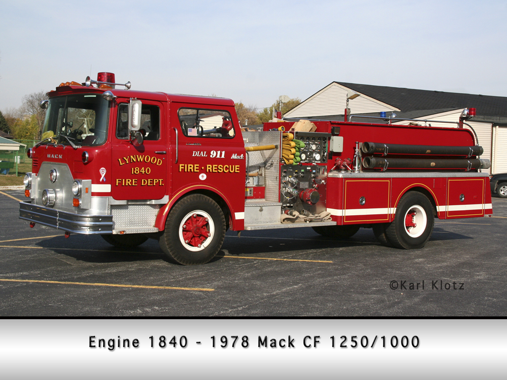 Lynwood FIre Department Mack CF pumper