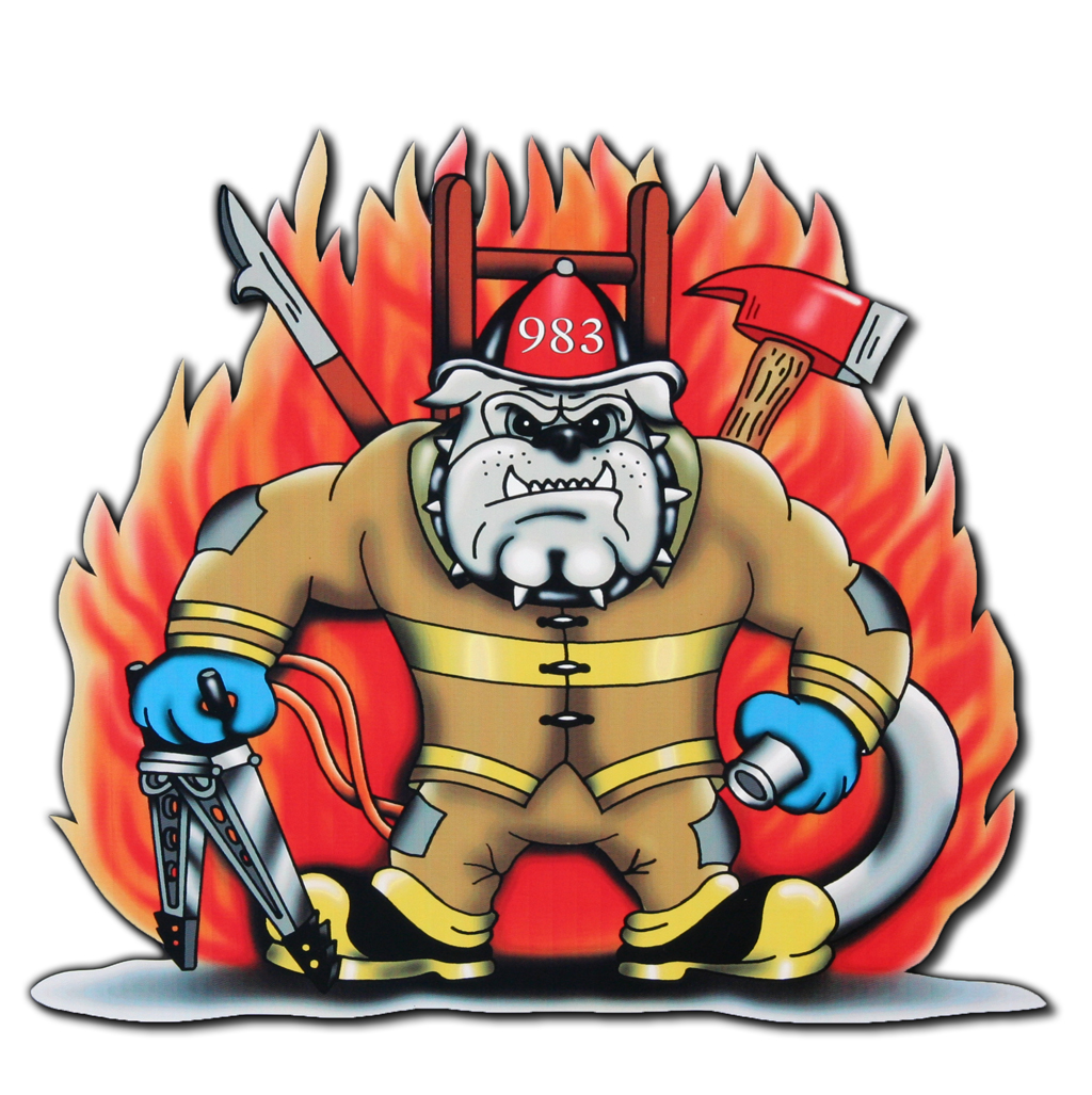 Oak Forest Fire Department decal