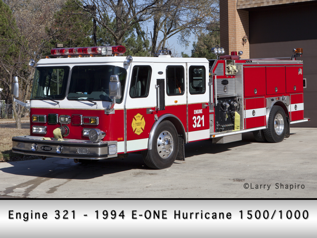 Oak Brook Terrace Fire District E-ONE engine