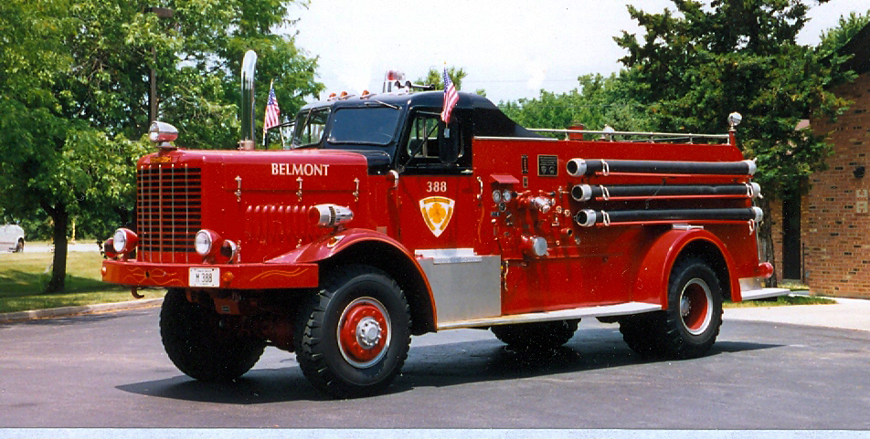 Darien Woodridge Belmont Fire District Oshkosh Howe engine