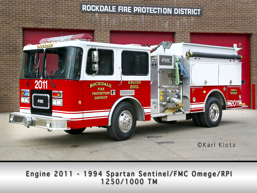 Rockdale IL FPD FMC Sentinel Omega pumper