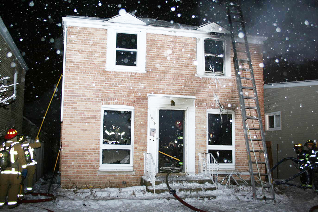 Evanston house fire December 25, 2010 at 1809 Laurel Avenue
