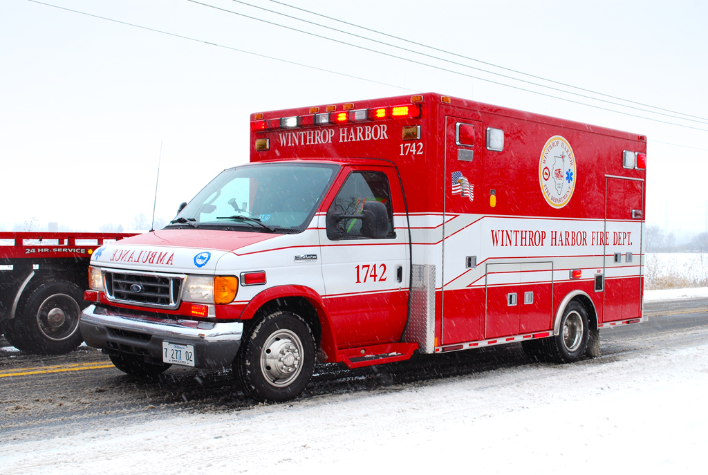 Winthrop Harbor FD ambulance