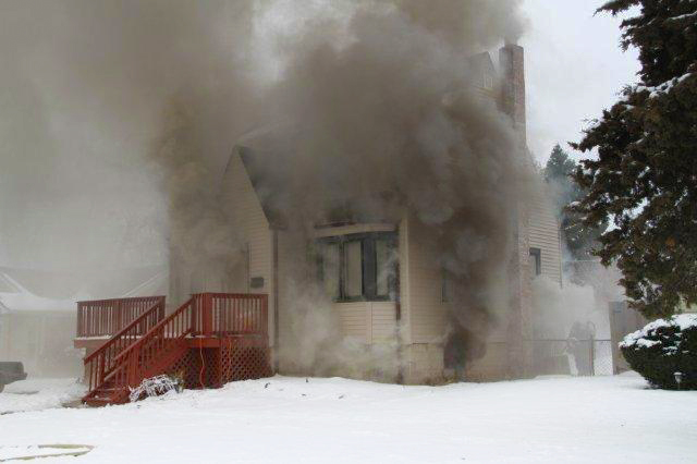Northlake FD house fire Dec 23, 2010 Laporte Avenue