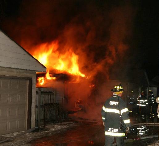 Summit Fire Department garage fire