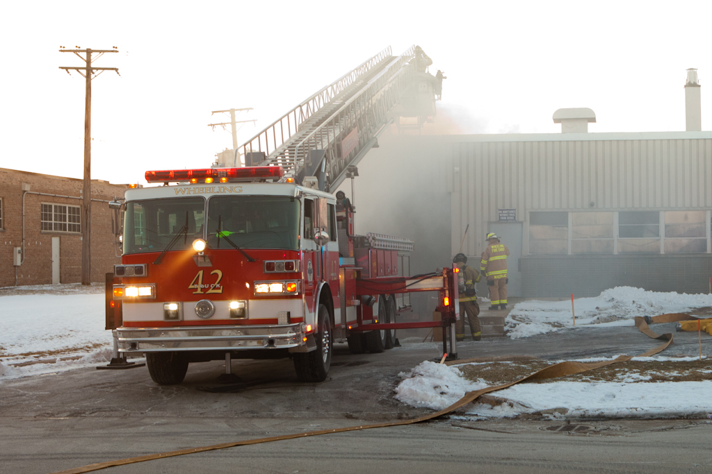 Wheeling industrial fire 12-19-10
