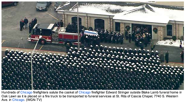 Chicago FF Edward Stringer funeral
