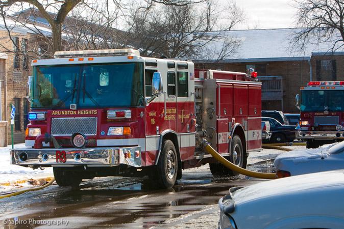 Arlington Heights Fire Department apartment fire Goebberts Road