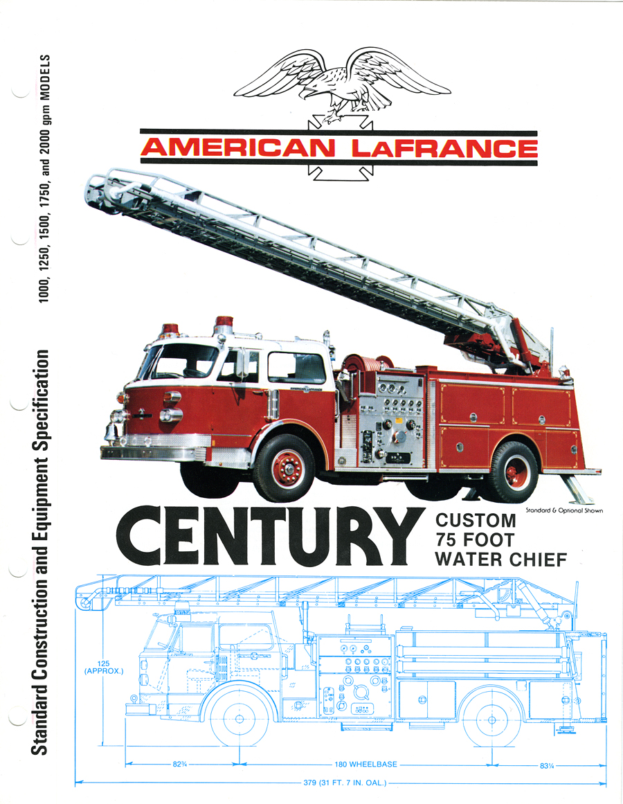 American LaFrance brochure 75' Water Chief Quint
