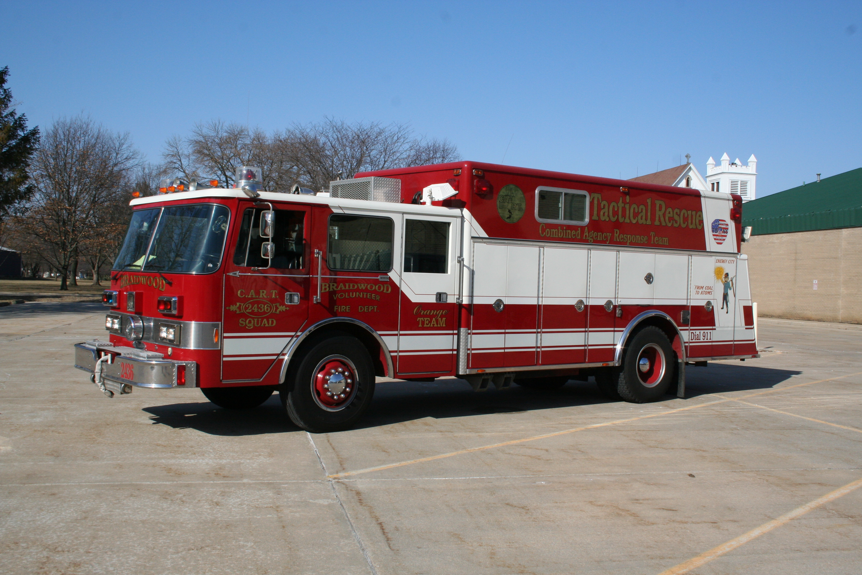 Mabas Division 19 and 22 haz mat unit Braidwood Pierce Arrow squad