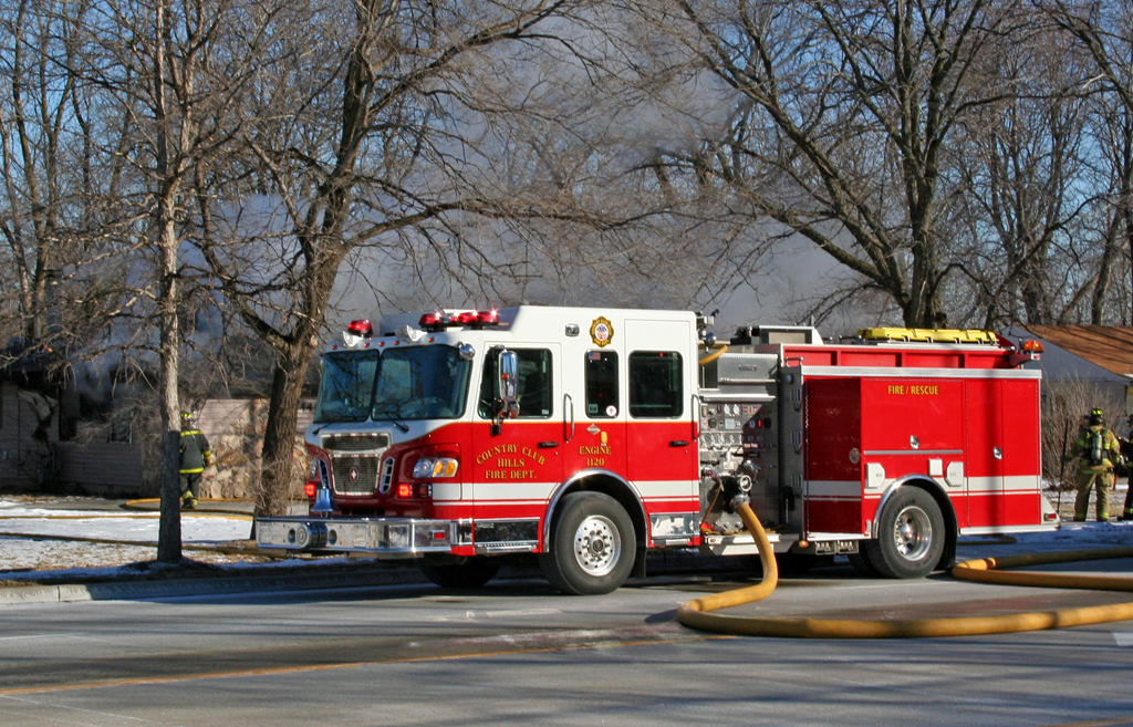 Country Club Hills Fire Department house fire Spartan Crimson Engine 1120