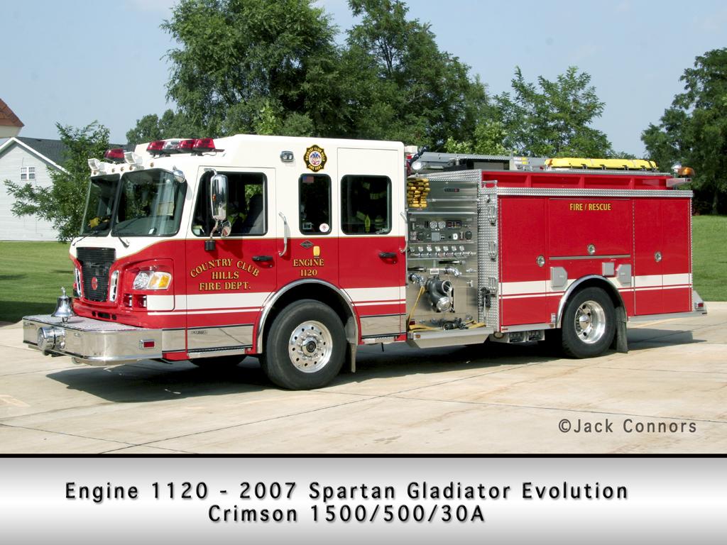 Country Club Hills Fire Department Spartan Crimson engine