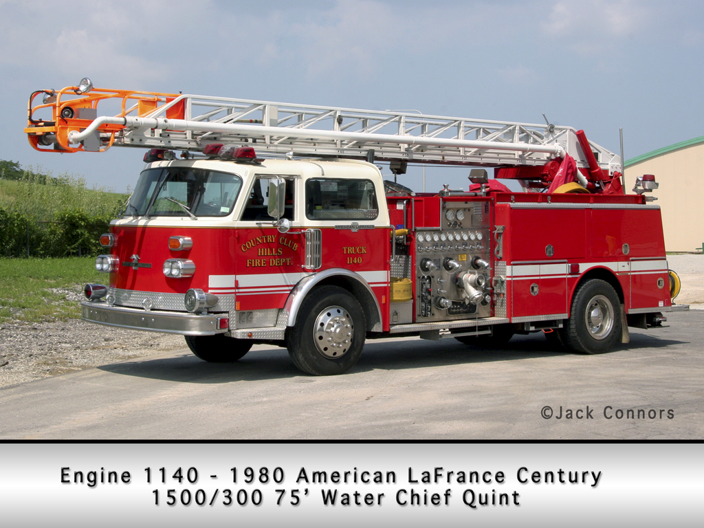 Country Club Hills Fire Department American LaFrance Century Water Chief Quint
