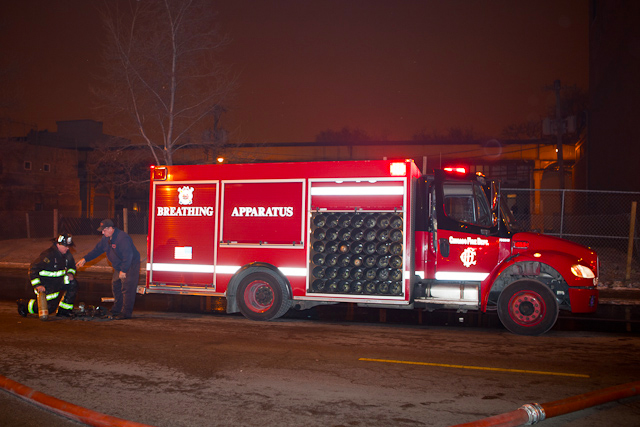 Chicago Fire Department 2-11 alarm fire Jan 26, 2011 Milwaukee Avenue