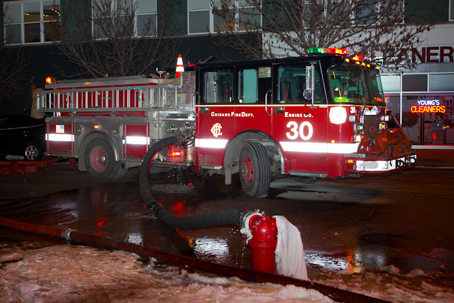 Chicago Fire Department 2-11 alarm fire Jan 26, 2011 Milwaukee Avenue