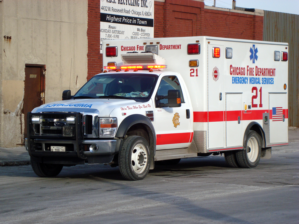 Chicago Fire Department Ambulance 21 Braun
