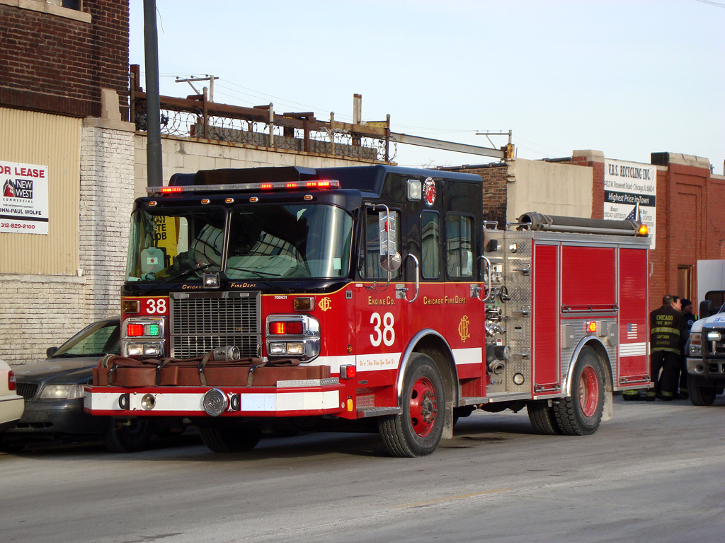 Chicago Fire Department engine 38 Spartan Crimson