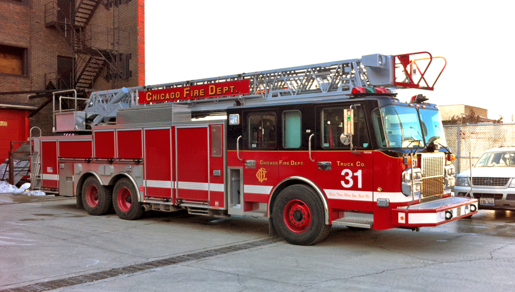 Chicago Fire Department Truck 31 Spartan Crimson