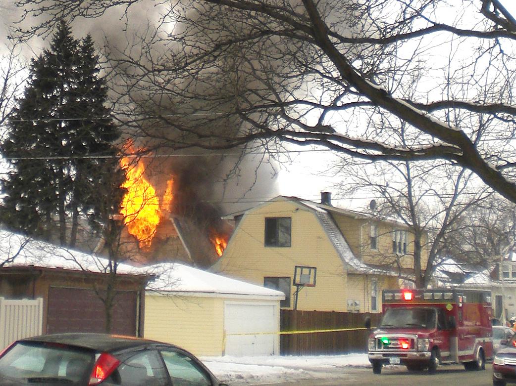 Elmwood Park Fire Department (IL) house fire January 17, 2011