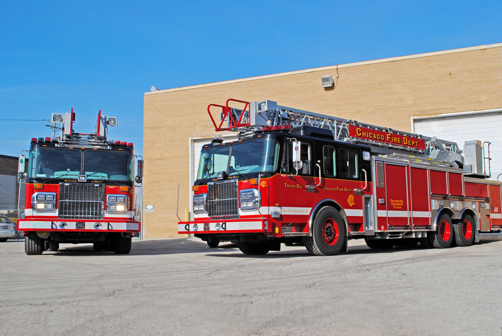 Chicago Fire Department Spartan Crimson 103' aerial ladder