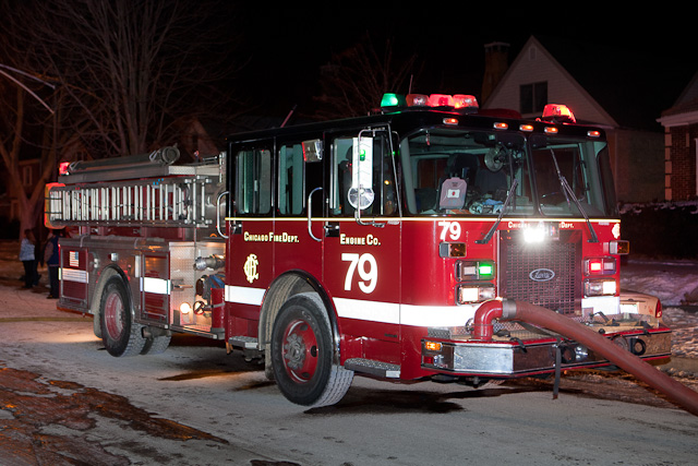 Chicago Fire Department house fire on Onarga Engine 79