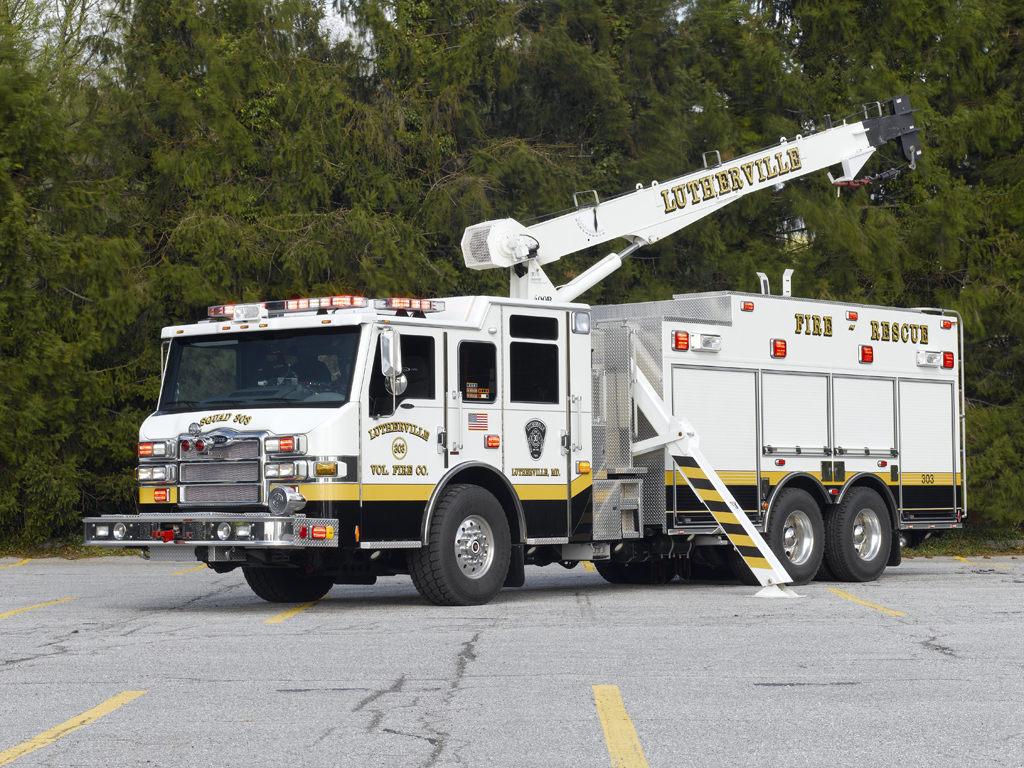 Lutherville Volunteer Fire Company MD Pierce Velocity heavy rescue National Crane