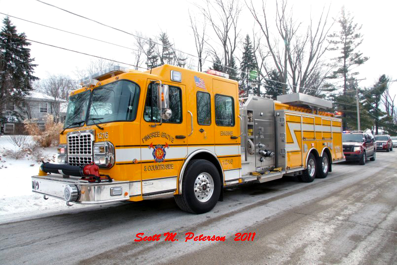 South Elgin Fire Department house fire Jan 20, 2011 Pingree Grove Fire District