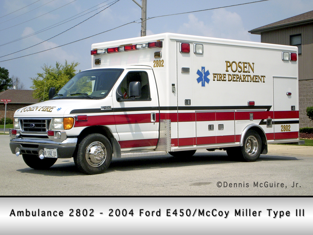 Posen Fire Department ambulance 2802