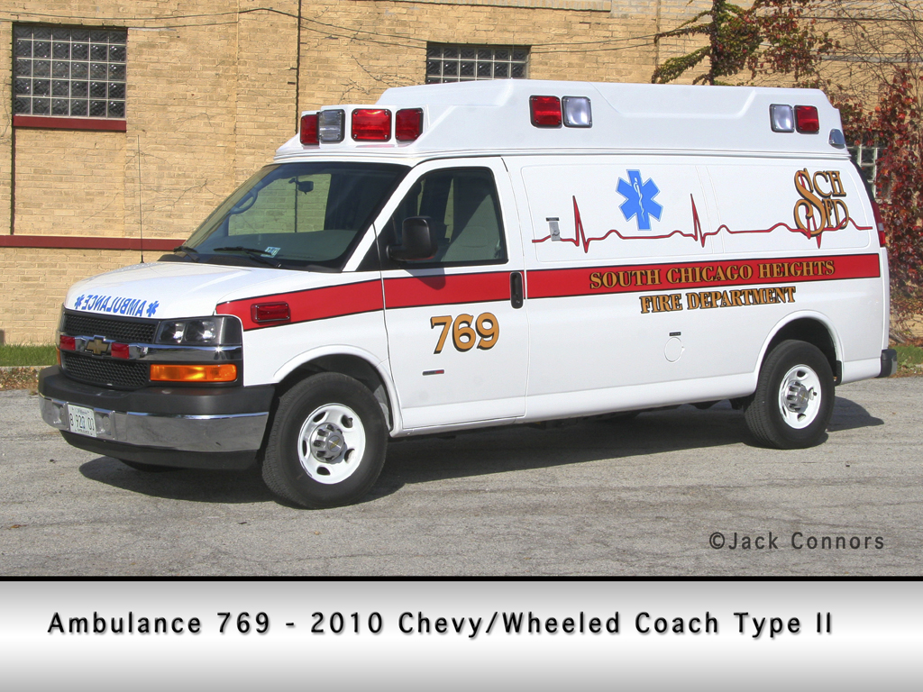 South Chicago Heights Fire Department Type II ambulance