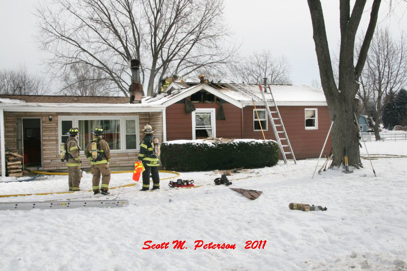 South Elgin Fire Department house fire Jan 20, 2011