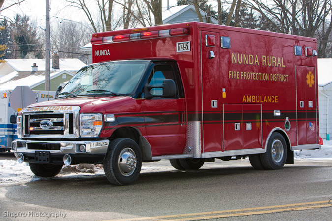 Wauconda Fire Department house fire Madison Ave Jan 22, 2011 Nunda ambulance