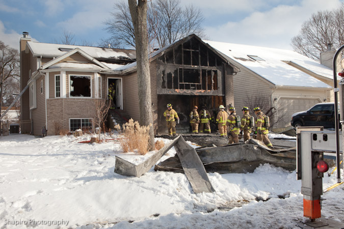 Wauconda Fire Department house fire Madison Ave Jan 22, 2011