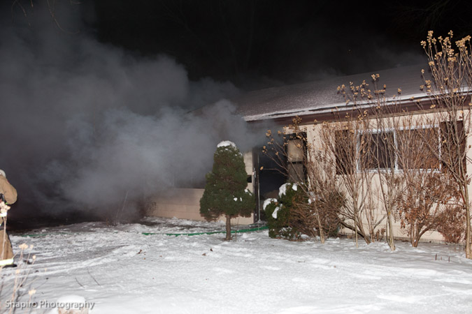 Wheeling FIre Department house fire at 115 Manchester Drive West 1-14-11