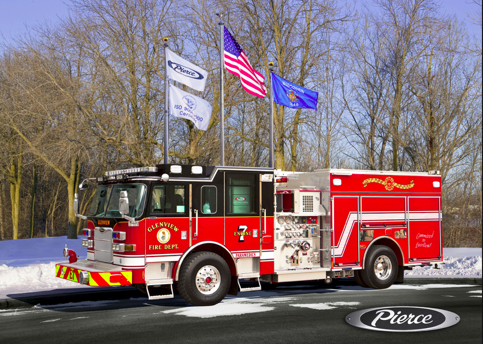 Glenview Fire Department Pierce Arrow XT engine